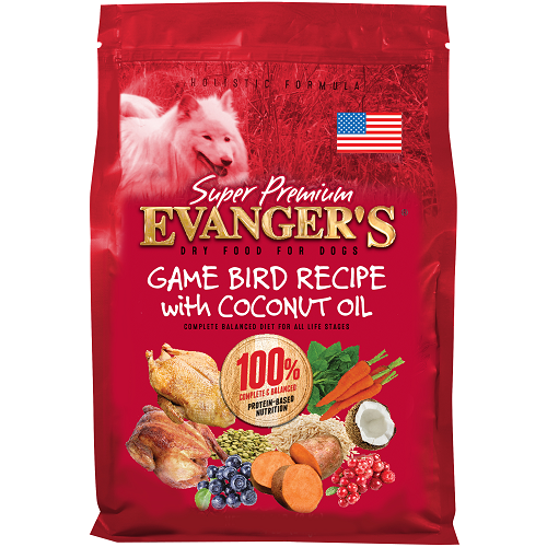 NEW! Gamebird Recipe with Coconut Oil for Dogs - 33 lb.